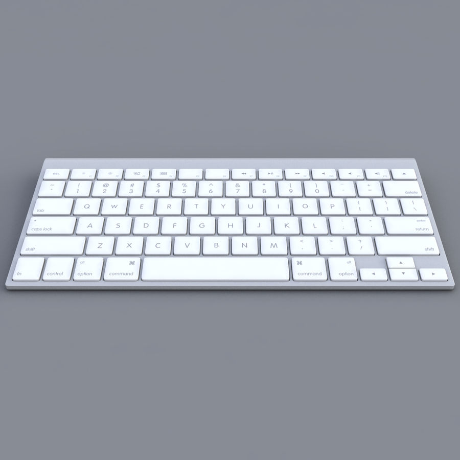 Apple Keyboard 2013 royalty-free 3d model - Preview no. 3