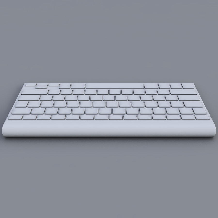 Apple Keyboard 2013 royalty-free 3d model - Preview no. 6