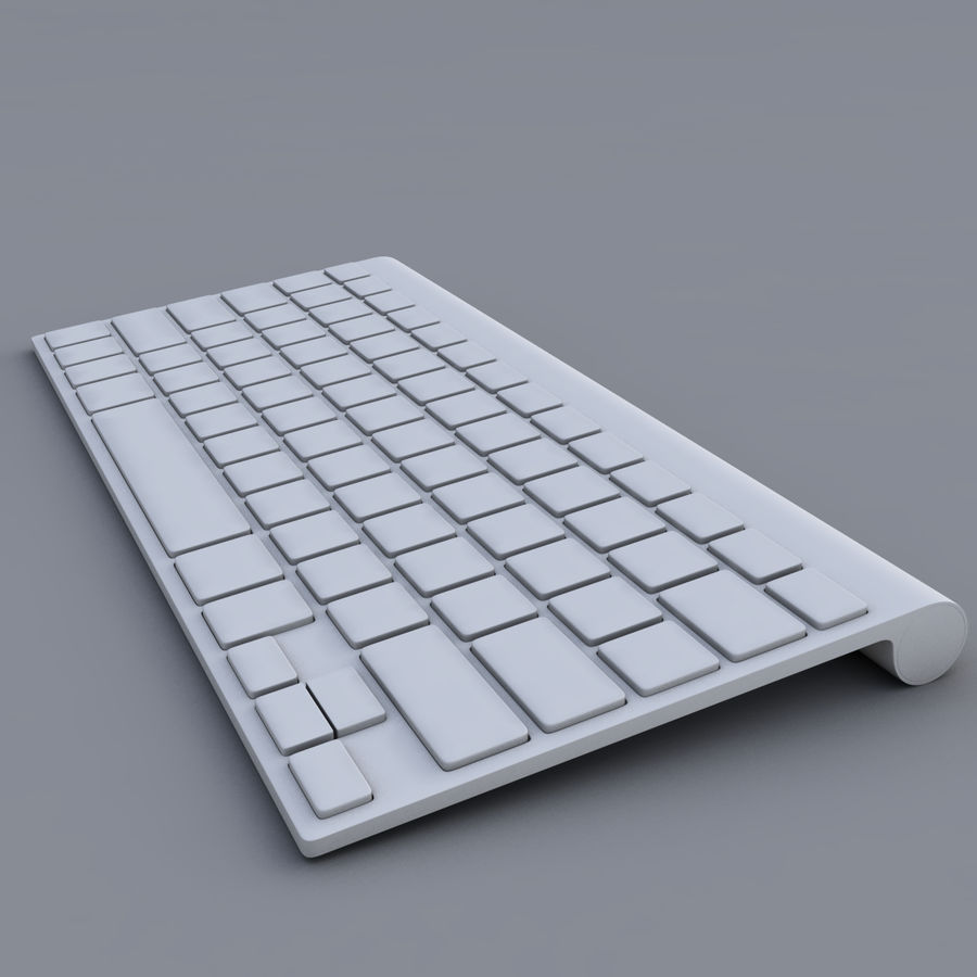 Apple Keyboard 2013 royalty-free 3d model - Preview no. 8