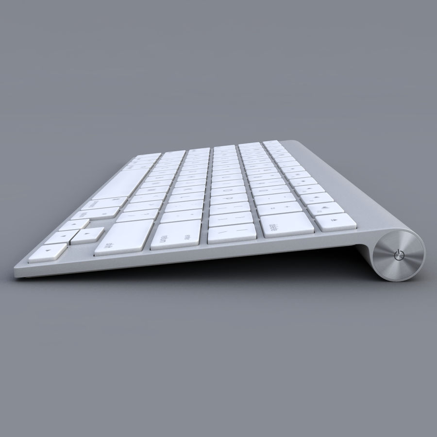 Apple Keyboard 2013 royalty-free 3d model - Preview no. 2