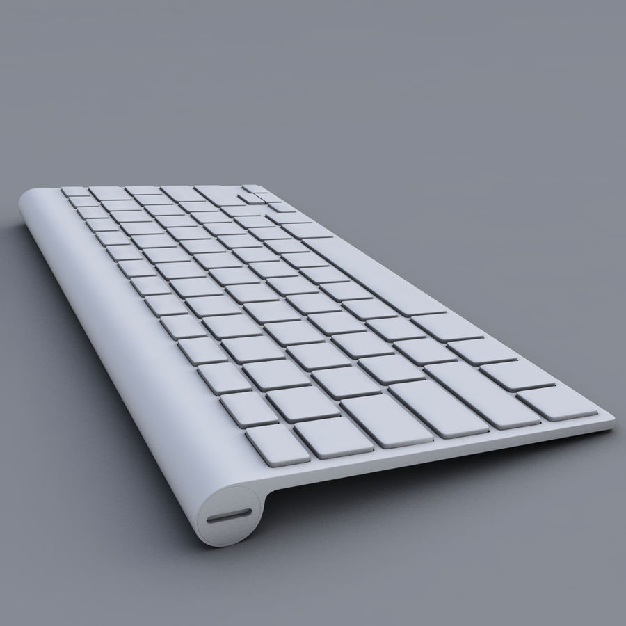 Apple Keyboard 2013 royalty-free 3d model - Preview no. 7