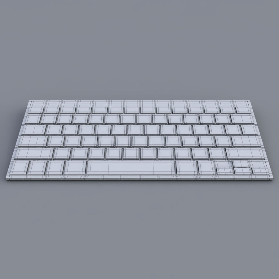 Apple Keyboard 2013 royalty-free 3d model - Preview no. 11