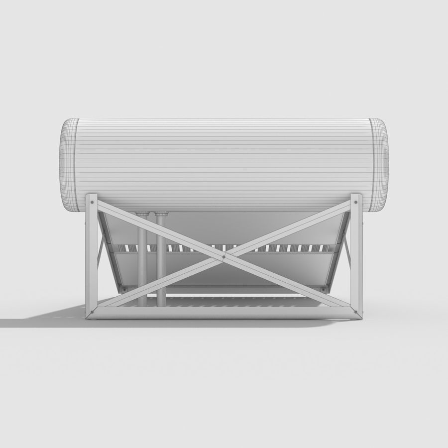 Solar Water Heater royalty-free 3d model - Preview no. 14