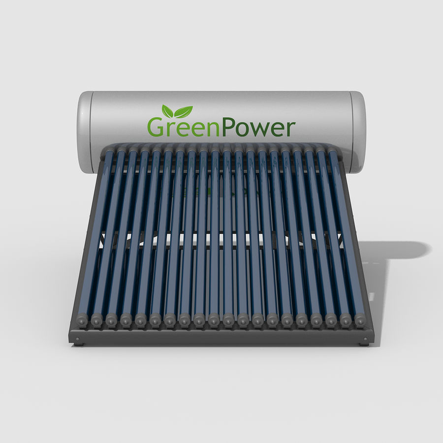 Solar Water Heater royalty-free 3d model - Preview no. 8