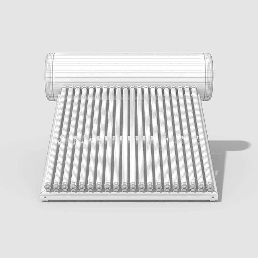 Solar Water Heater royalty-free 3d model - Preview no. 9