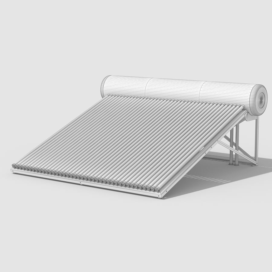 Solar Water Heater Large royalty-free 3d model - Preview no. 10