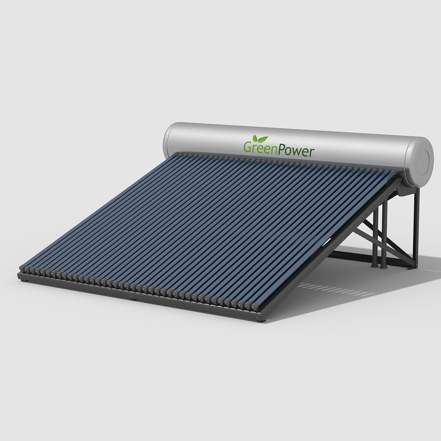 Solar Water Heater Large royalty-free 3d model - Preview no. 2