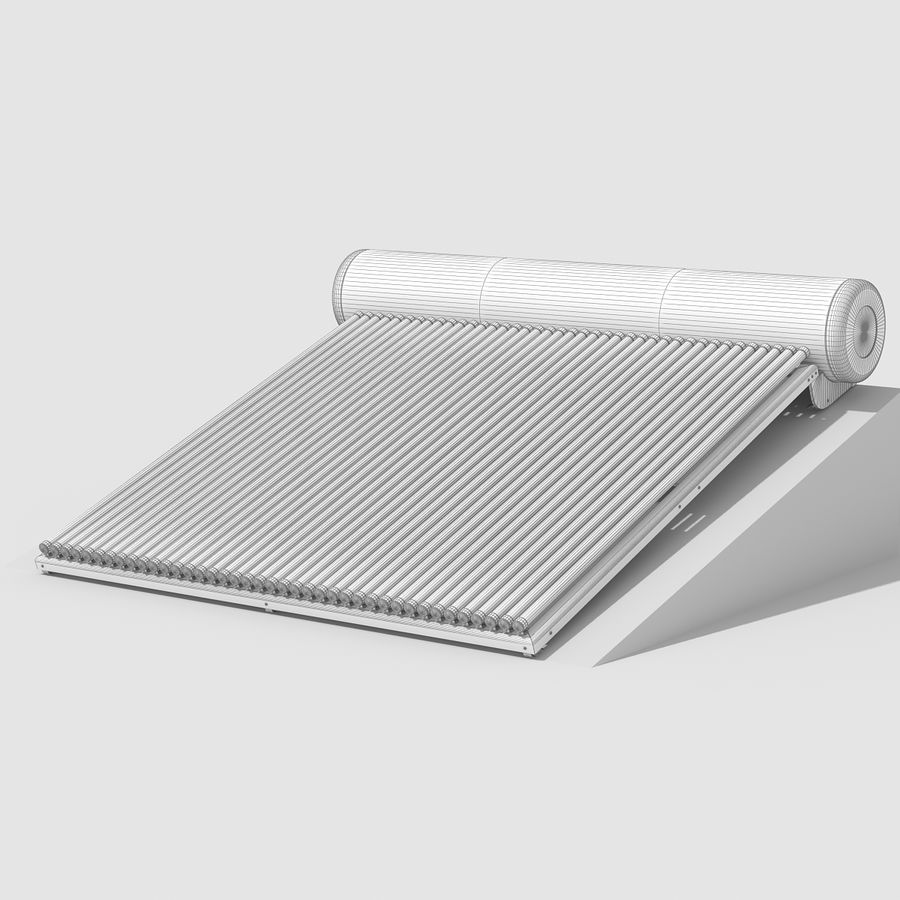 Solar Water Heater Large royalty-free 3d model - Preview no. 11