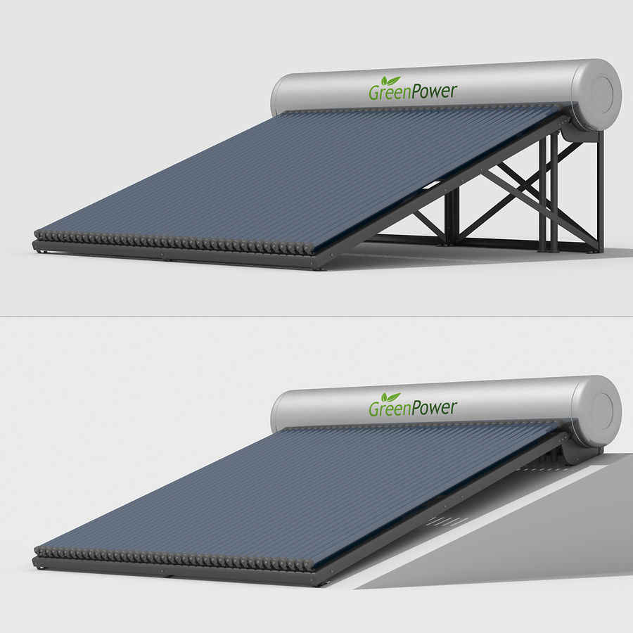 Solar Water Heater Large royalty-free 3d model - Preview no. 4