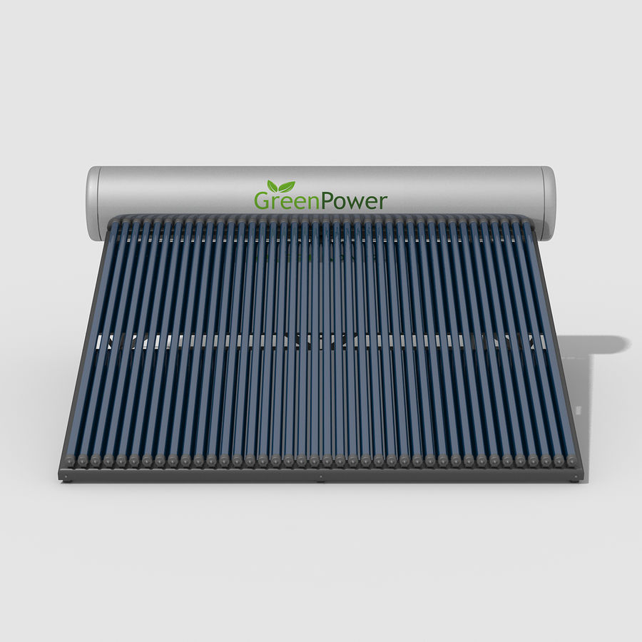 Solar Water Heater Large royalty-free 3d model - Preview no. 8