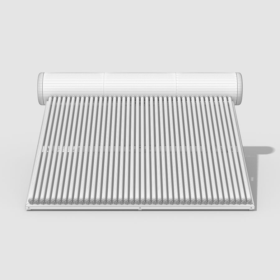 Solar Water Heater Large royalty-free 3d model - Preview no. 9