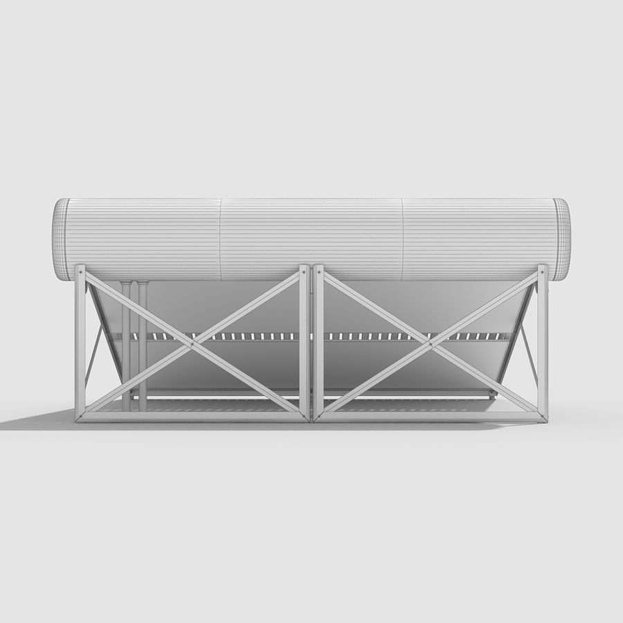 Solar Water Heater Large royalty-free 3d model - Preview no. 14