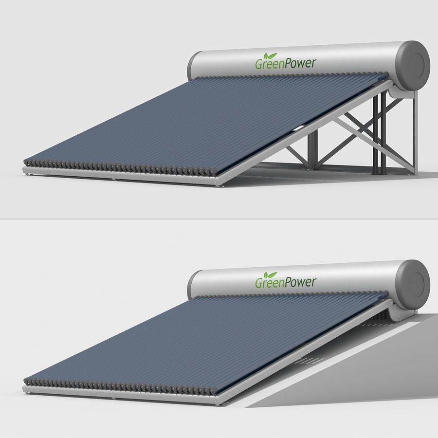Solar Water Heater Large royalty-free 3d model - Preview no. 5