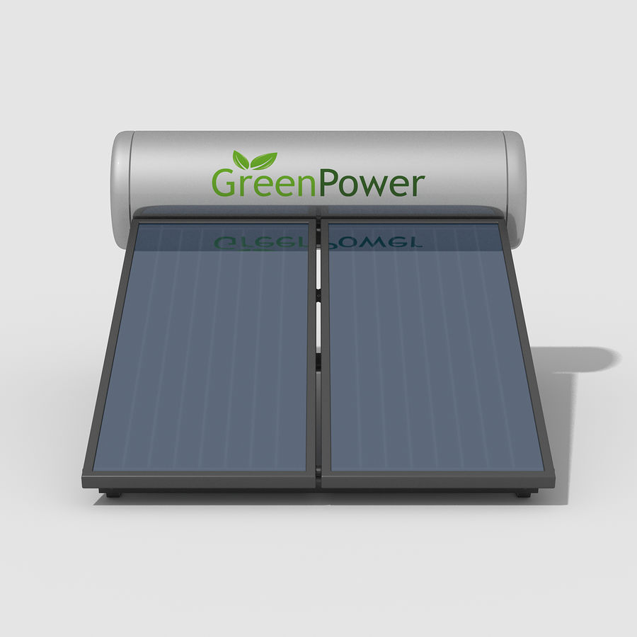 Solar Water Panels royalty-free 3d model - Preview no. 8