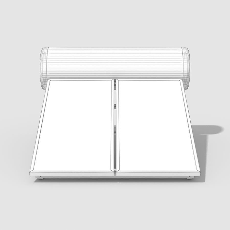 Solar Water Panels royalty-free 3d model - Preview no. 9