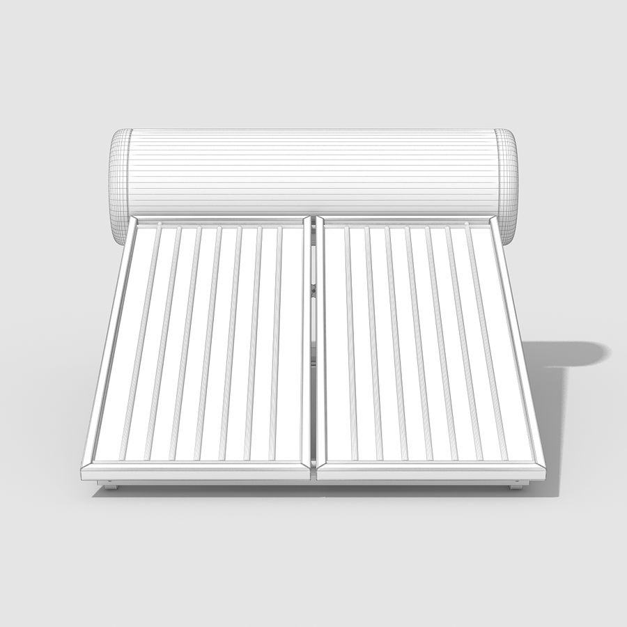 Solar Water Panels royalty-free 3d model - Preview no. 10