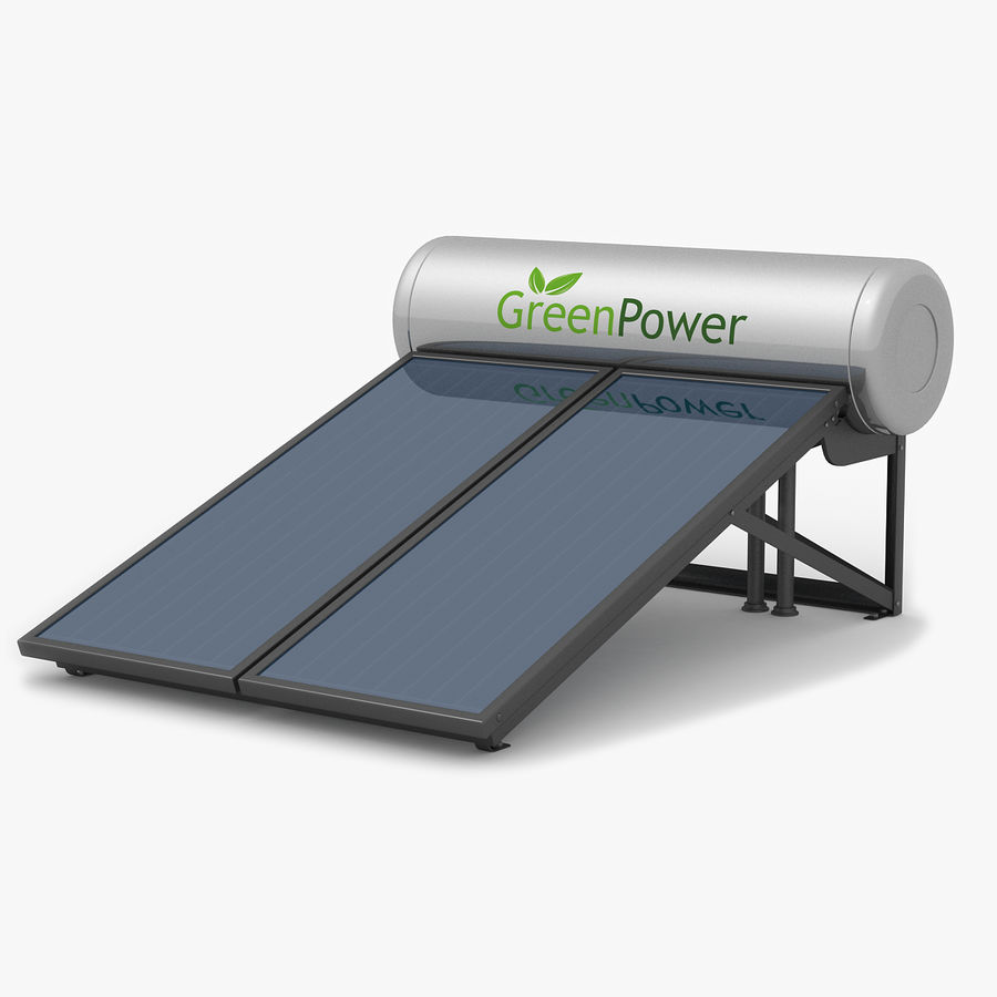 Solar Water Panels royalty-free 3d model - Preview no. 1