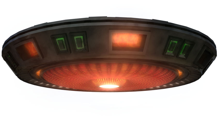 UFO Flying Saucer royalty-free 3d model - Preview no. 4