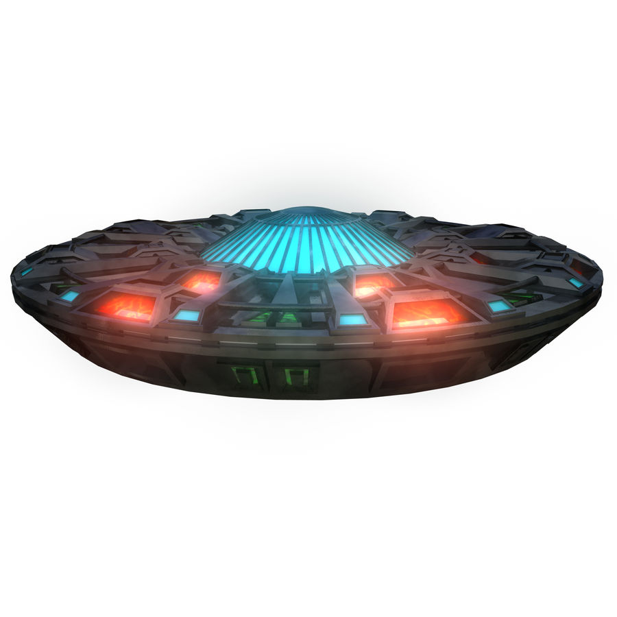 UFO Flying Saucer royalty-free 3d model - Preview no. 2