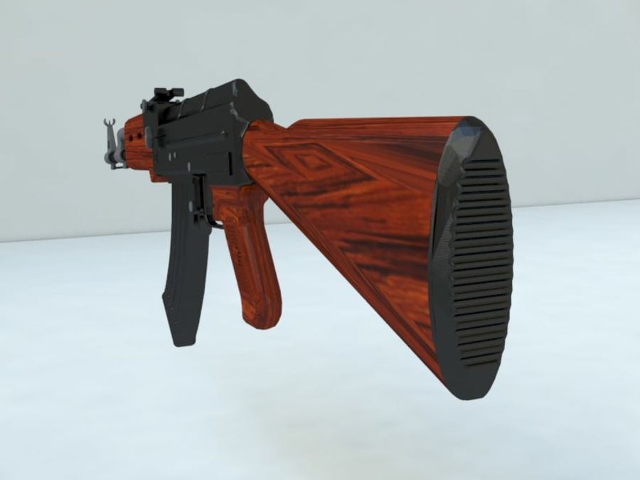 AK47 royalty-free modelo 3d - Preview no. 5