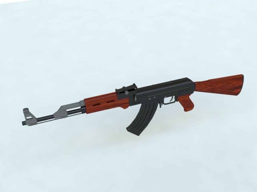AK47 royalty-free modelo 3d - Preview no. 4