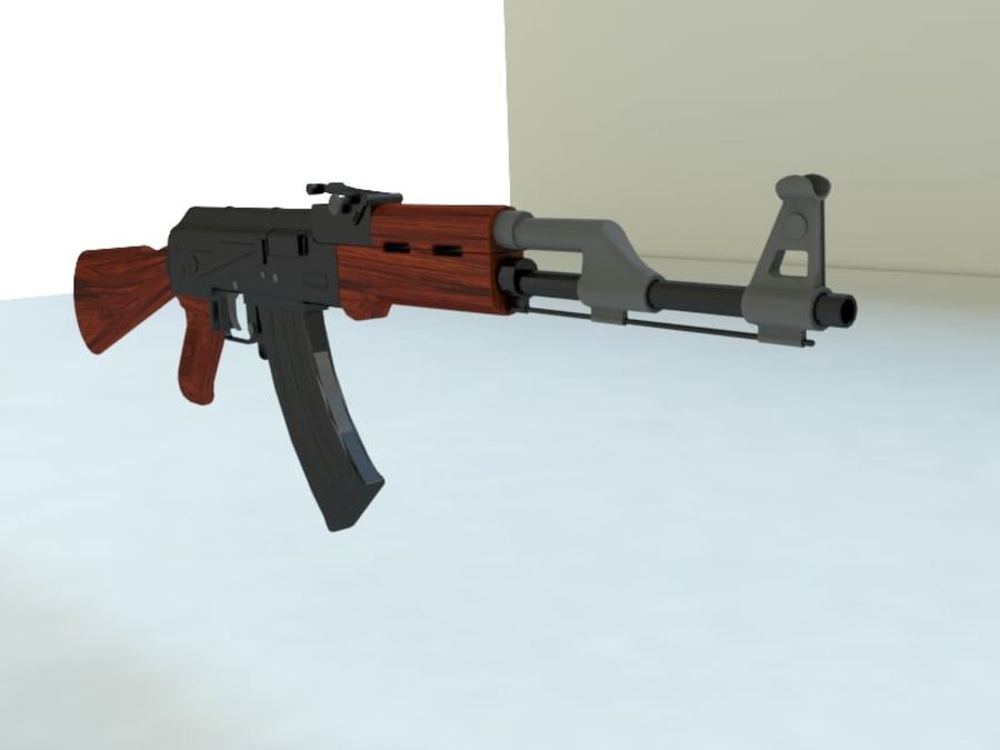 AK47 royalty-free modelo 3d - Preview no. 3