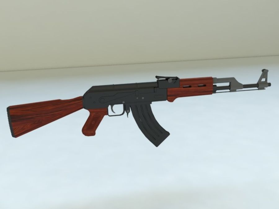 AK47 royalty-free modelo 3d - Preview no. 2