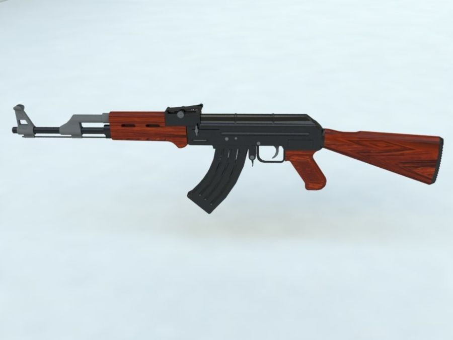 AK47 royalty-free modelo 3d - Preview no. 1