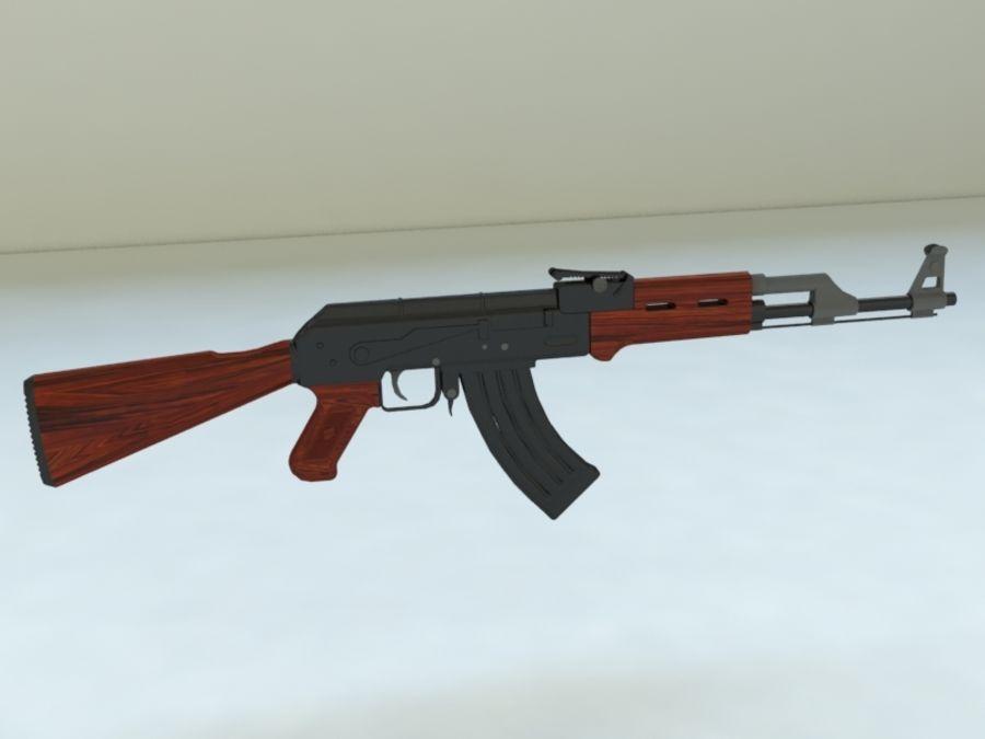 AK47 royalty-free 3d model - Preview no. 2