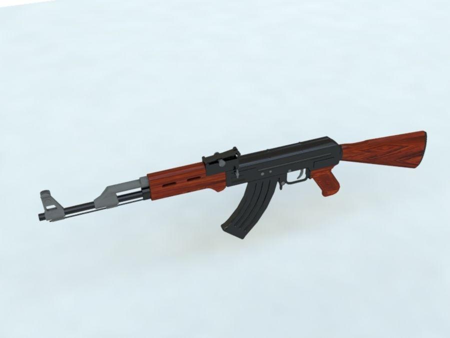 AK47 royalty-free 3d model - Preview no. 4