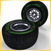 Opona Pirelli F1 2013 Średnio zaawansowana 3d model
