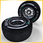 Opona Pirelli F1 2013 średnia 3d model
