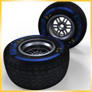Opona Pirelli F1 2013 Mokra 3d model