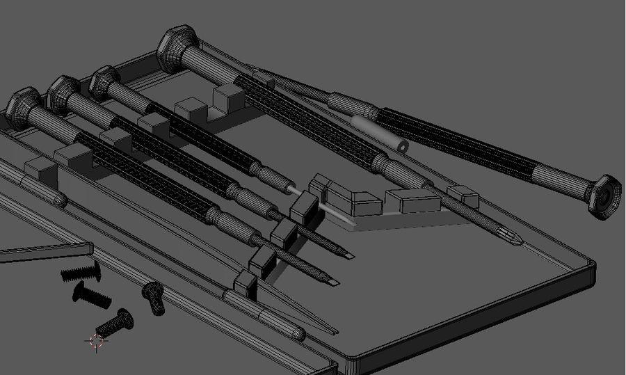 Skruvmejsel Precision Set royalty-free 3d model - Preview no. 11