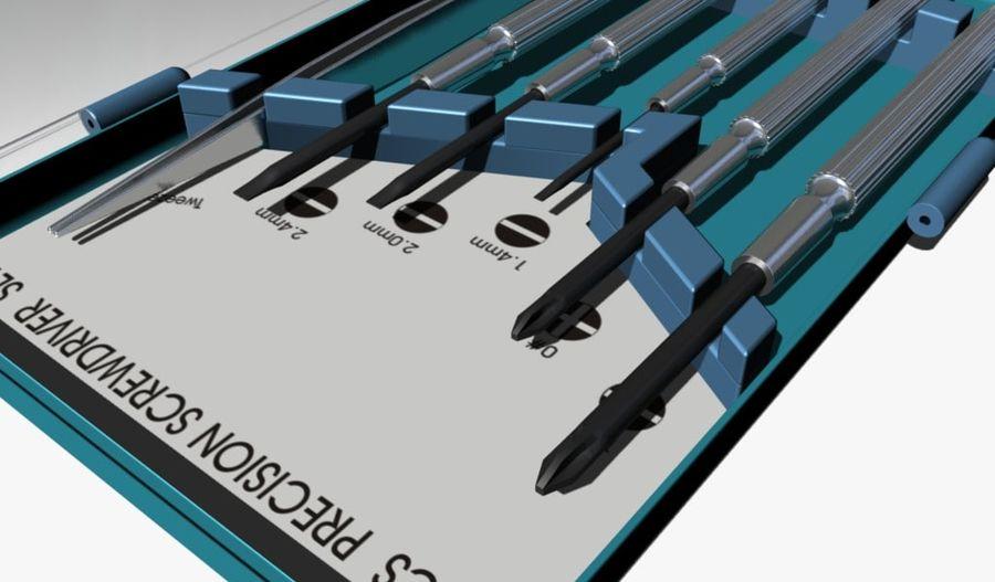 Skruvmejsel Precision Set royalty-free 3d model - Preview no. 4