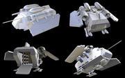 Легкий грузовой корабль 3d model