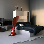 Chambre moderne 3d model