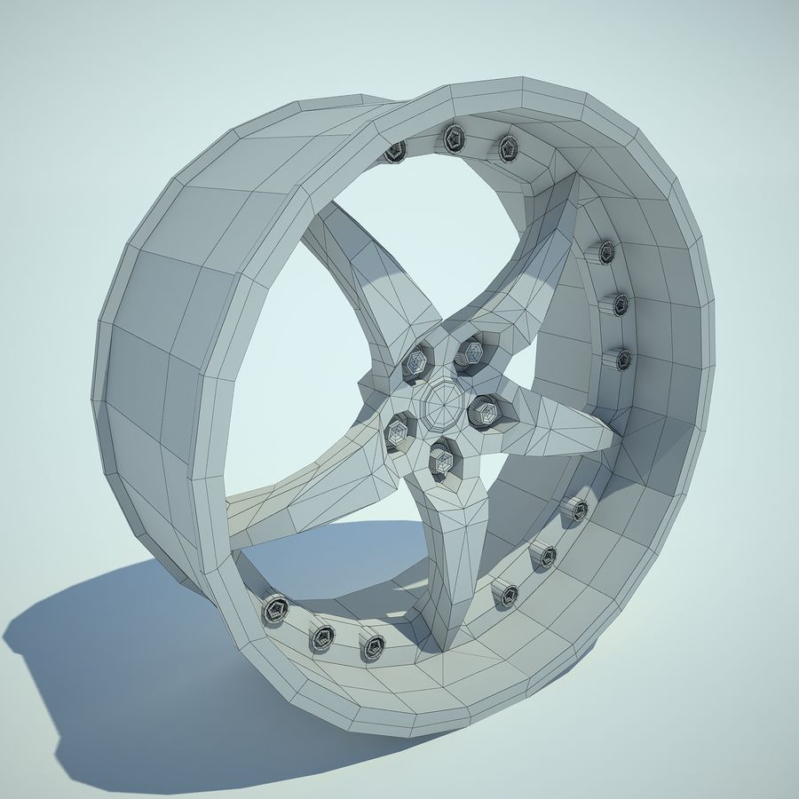 Auto Wheel 01 royalty-free 3d model - Preview no. 8