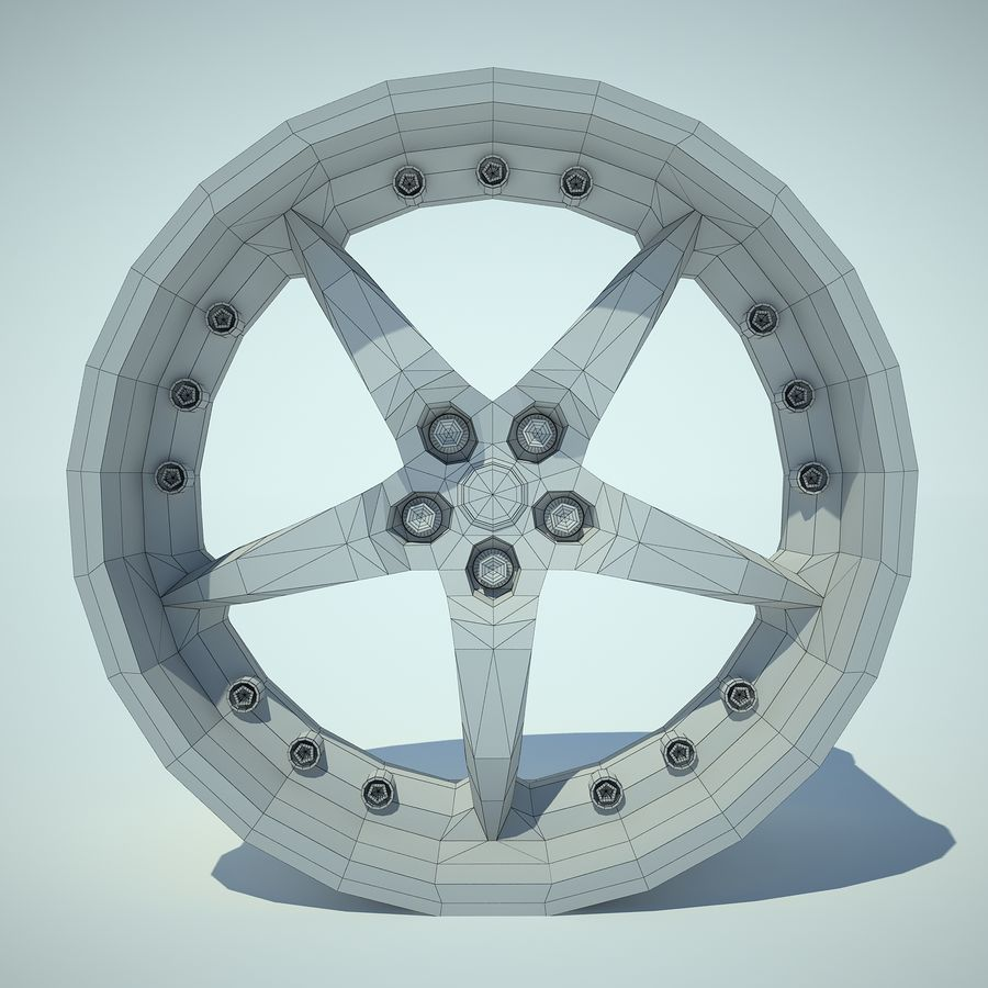 Auto Wheel 01 royalty-free 3d model - Preview no. 6