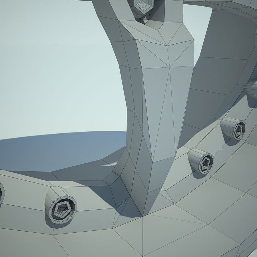 Auto Wheel 01 royalty-free 3d model - Preview no. 9