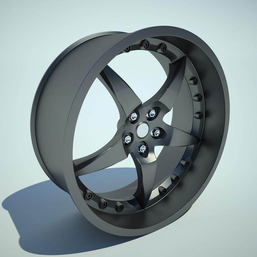 Auto Wheel 01 royalty-free 3d model - Preview no. 7