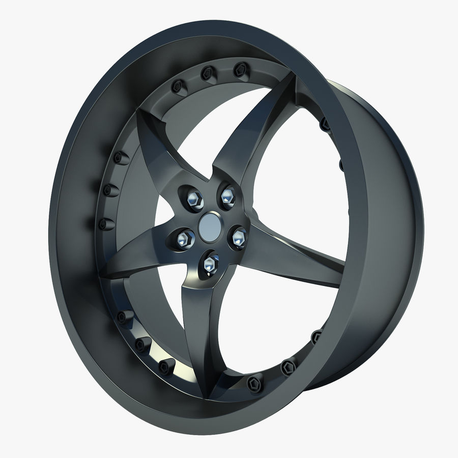 Auto Wheel 01 royalty-free 3d model - Preview no. 1