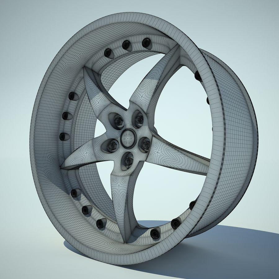 Auto Wheel 01 royalty-free 3d model - Preview no. 3