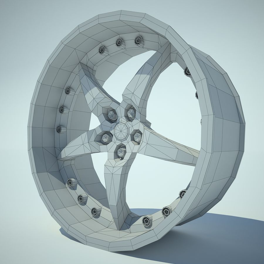 Auto Wheel 01 royalty-free 3d model - Preview no. 4