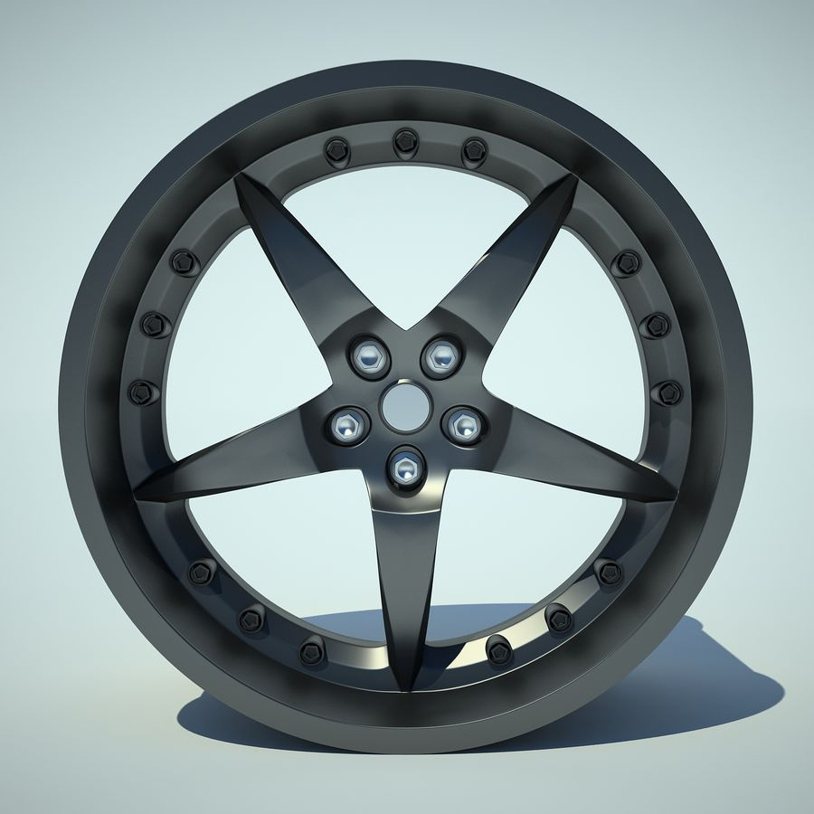 Auto Wheel 01 royalty-free 3d model - Preview no. 5