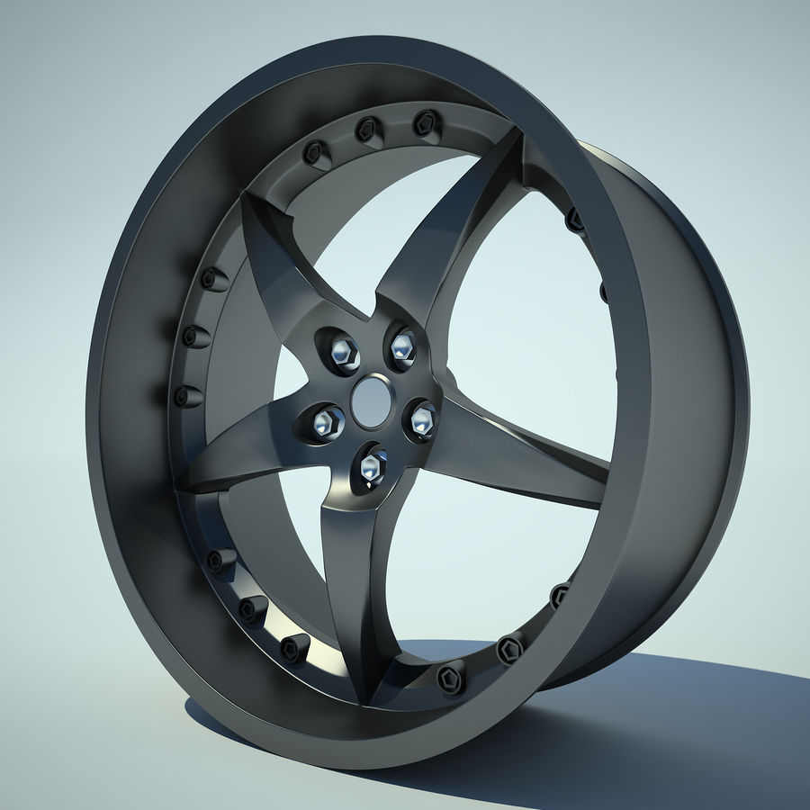 Auto Wheel 01 royalty-free 3d model - Preview no. 2