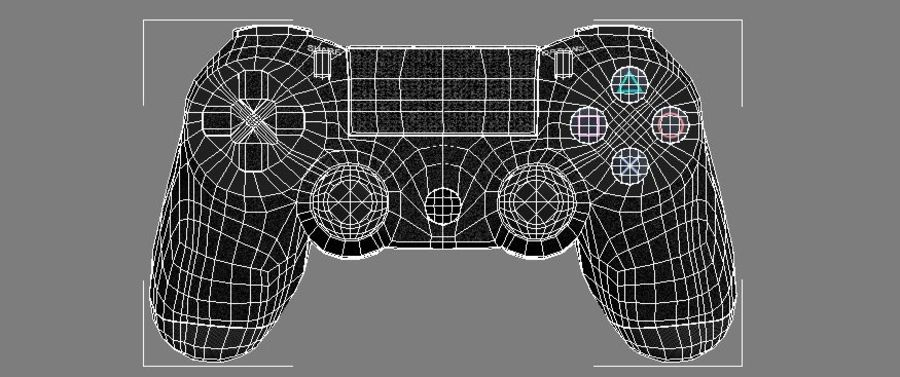 Low Res Sony Playstation Dualshock 4 Controller royalty-free 3d model - Preview no. 3