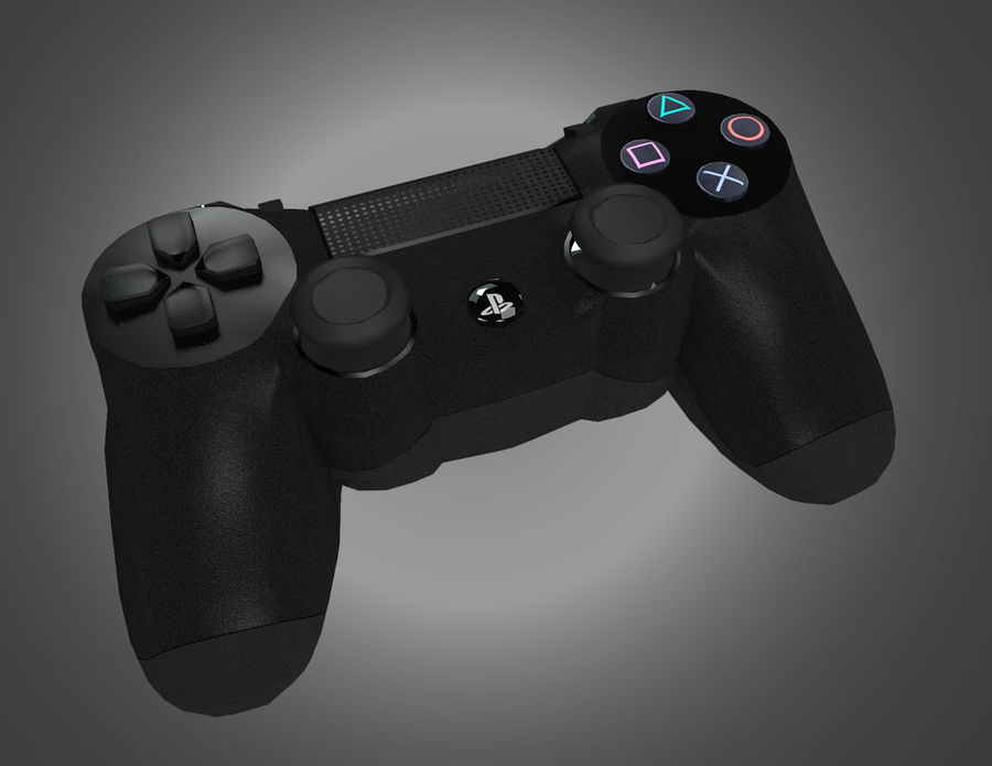 Low Res Sony Playstation Dualshock 4 Controller royalty-free 3d model - Preview no. 1