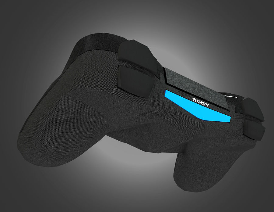 Low Res Sony Playstation Dualshock 4 Controller royalty-free 3d model - Preview no. 5