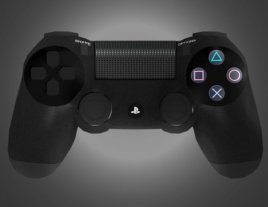 Low Res Sony Playstation Dualshock 4 Controller royalty-free 3d model - Preview no. 4